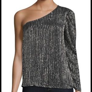 NWT PARKER Patricia One Shoulder Sequin Top XS